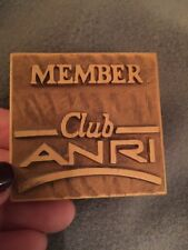 Vintage Anri Club Member Wooden sign