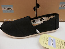 TOMS WOMENS SHOES CLASSIC CANVAS BLACK SIZE 8.5