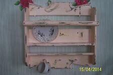 Shabby Regal,Küchenregal,,Wandboard,rosa,Tellerboard,Landhaus..UNIKAT