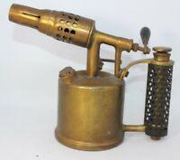 Brevete SGDG Vesta FJ Paris Vintage Brass Blow Lamp Torch France