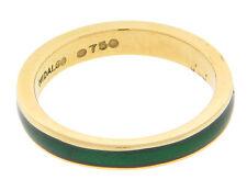 Hidalgo Enamel Ring 18k Yellow Gold