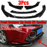 For 2019 Toyota Corolla LE SE Gloss Black Front Bumper Chin Splitter Spoiler Lip