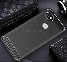 For Google Pixel 2 Carbon Fibre Gel Case Cover & Glass Screen Protector