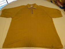 The Territory Ahead XL ribbed silk cotton short sleeve polo Shirt gold EUC @