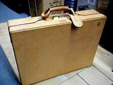 HARTMANN Vtg Brown Lawyer Hard Case Tan Belting Leather Briefcase