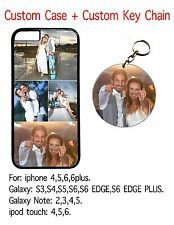 Personalized Custom iPhone  Galaxy  Note  iPod  Case with Custom key chain