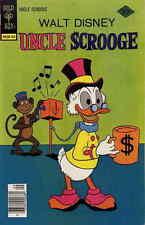 Uncle Scrooge #144 Vg, water damage, Walt Disney, Gold Key Comics 1977