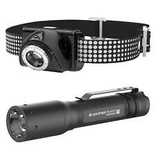 LED Lenser SE07R Rechargeable Head Light & P3 Flashlight Torch Kit