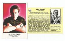 Paul Gulacy SIGNED 1992 Famous Comic Book Creators Eclipse Artist Card Batman