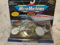 Star Trek Micro Machines Klingon Bird of Prey, Enterprise NCC-1701-B, NCC-1701-D