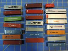 Walthers N Scale 20', 40' & 48' Containers Modern LOT set of 22