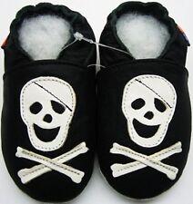 soft sole leather boy shoes minishoezoo skeleton black 5-6 years toddler child