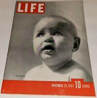 November 22, 1937 LIFE Magazine Old ads, FREE SHIP Nov. 11/37 20 21 23 24 1930s