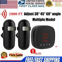 US Wireless Driveway Alert Alarm System Infrared Motion Sensor Security 300M