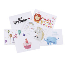6pcs/set thank you cards birthday card for kids note cards with envelopes  BH