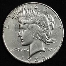 1935-s Peace Silver Dollar.  High Grade Detail.  104962