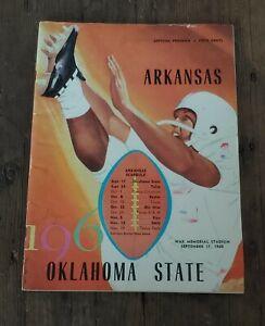 1960 Arkansas Razorbacks Oklahoma State Lance Alworth Football Program 9-17-60