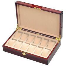 Laminated Makah Burlwood Veneer 12 Watch Storage Box by Hillwood