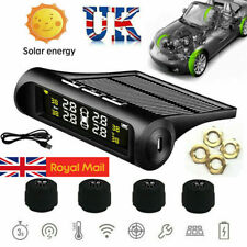 4 Sensor Solar Wireless TPMS Car Tire Tyre Pressure Monitoring System External