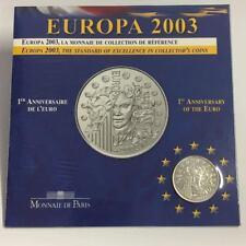 P6/4) francia 1 1/2 euros en pp Europa 2003 1. aniversario del euro, 900er slber