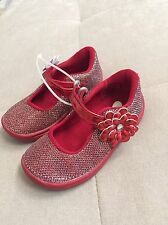 See Stride Rite Hayley Girls Dress Flats Shoes Size 5.5 Red Sparkles Holiday