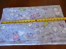 """18"""" Long, 43"""" Wide, Quality Flannel, """"Girly Girl"""" on Lavender, B117"""