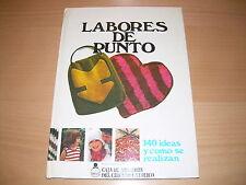 Libro - LABORES DE PUNTO - 140 ideas y como se realizan - de los años 70