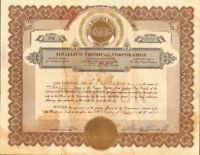 Tinallium Chemical Corporation > 1930 tin stock certificate share