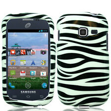For Samsung Galaxy Centura S738C HARD Case Snap On Phone Cover Zebra