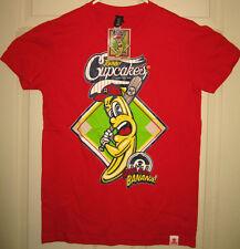JOHNNY CUPCAKES Shirt XL NWT Slim Fit Grand Slam Banana Boston MA OOP HTF RARE