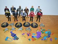 """Vintage STAR TREK Action Figure Lot of 11 Playmates Captain Picard Data 5"""" 1990s"""