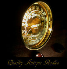 Old Antique Wood Crosley Vintage Tube Radio - Restored & Working w/ Mirror Dial