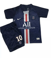 Neymar Jr #10 Paris Saint-Germain 2019/20 Home kids jersey-Free UK Delivery
