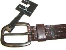"""Mb374 Marc Ecko Brown Genuine Bonded Leather Men's Belt 1-1/2"""" Wide Size S 30-32"""