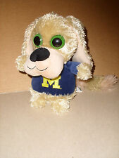 Forever Collectibles Plush Dog Big Eyes Football Michigan Wolverines 9''