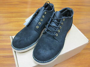 Whites Boots Men's Hathorn Rainier Black Roughout Leather Made in USA