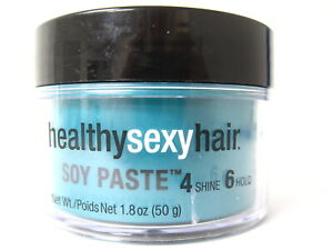 Healthy Sexy Hair Soy Paste Texture Pomade 1.8 oz 4 shine 6 hold CRACKS
