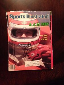 A.J. Foyt Indy Racing Signed AUTOGRAPH Sports Illustrated Magazine SI