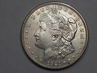 AU/Unc 1921 Silver US Morgan Dollar.  #10