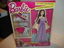 My First Magnetic Wooden Dress-Up Doll Set Barbie