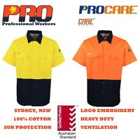 1 pack Hi Vis Work Shirt vented cotton drill cutted short sleeve uniform safety