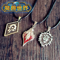 Neu WOW World of Warcraft Horde The Alliance Blood Elf Kette Necklace 2.5x3.5CM