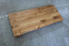 Waschbecken Tischplatte Platte Eiche Wild Massiv Holz mit Baumkante NEU Leimholz