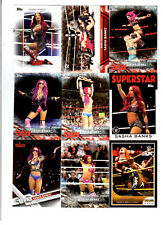 Sasha Banks Wrestling Lot of 9 Different Trading Cards 1 Insert WWE NXT SB-C1