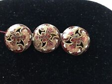 Antique Enamel Bar Pin/Brooch with beautiful detail and colors