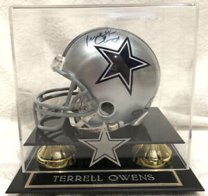 Terrell Owens Signed Mini Helmet - Dallas Cowboys Mounted Memories Authenticated
