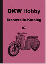 DKW Hobby Motorroller Ersatzteilliste Ersatzteilkatalog Spare Parts Catalogue