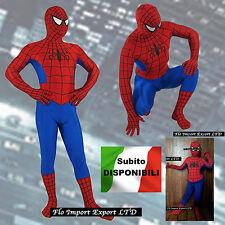 Amazing Spiderman Costume Carnevale Bambino Uomo Dress up Cosplay Costume SPM004