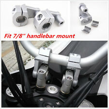"7/8"" 22mm Motorcycle HandleBar Handle Fat Bar Mount Clamps Riser CNC Aluminum"
