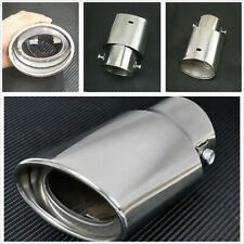Universal Car Stainless Steel Chrome Rear Round Exhaust Pipe Tail Muffler Tip